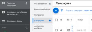 modifier budget clic par jour Google ads